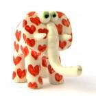 Slonček Srčki Rdeči